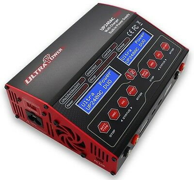 Ultra Power UP240AC DUO LiPo/NiMh Ladegerät 20A/12A & 2x 240Watt NEW VERSION