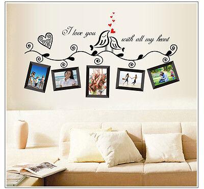 DIY Family Black Frame Removable Decal Room Wall Sticker Vinyl Art Home Decor A