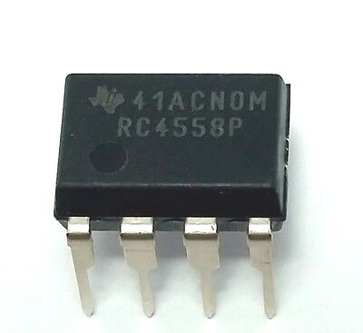 5pcs Texas Instruments Rc4558p Rc4558 Dual Operational Amplifier Dip-8 New Ic
