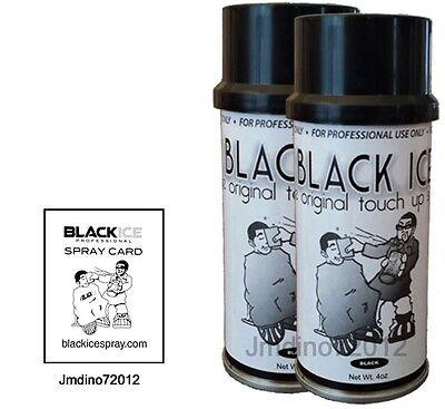 2 New Black Ice Chromatone Hair Color Spray - Black - 4 Oz + Spray Card