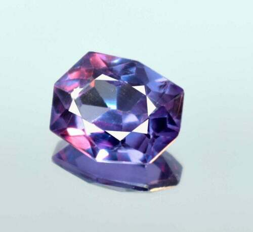 Natural Color Changing Sapphire Loose Gemstone HEXAGOAN Shape 8-10 Ct Certified