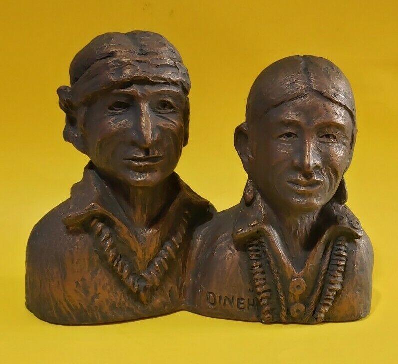 ■HTF■ Signed JULIUS BEGAY @ 87 DINEH Cast Iron Native American NAVAJO SCULPTURE