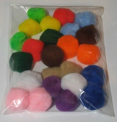 - Cat Toys 2 inch Acrylic pompoms (24 per bag)