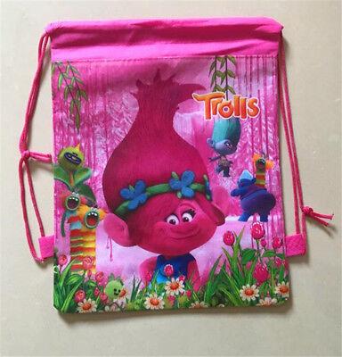 Cute Trolls Cartoon Bag Non-woven Drawstring Backpack Kids Drawstring School Bag Non Woven Drawstring Bag