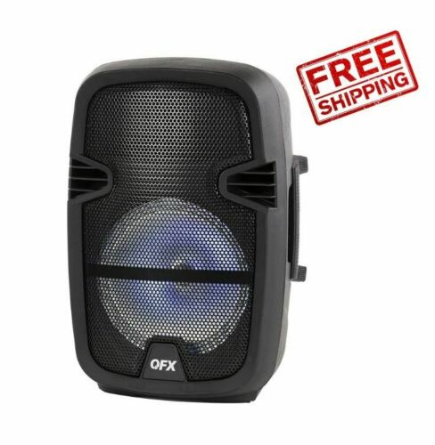 Portable Speaker 8-in Party Bluetooth PA Loudspeaker with Microphone & Remote