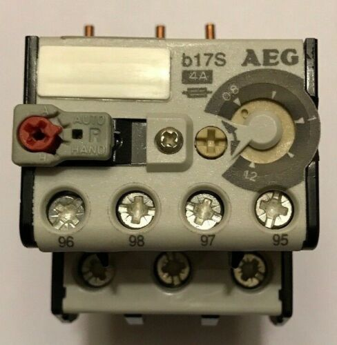 AEG B17S 4A Overload Relay 910-341-527-00 .8-12amps
