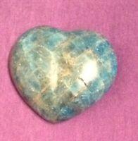 Blue Apatite Heart Shaped Crystal