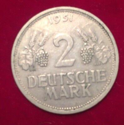 2 DM , Deutsche Mark 1951 G