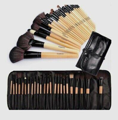 Pennelli Make Up,Cadrim 24 pezzi Set di pennelli professionali,con borsa