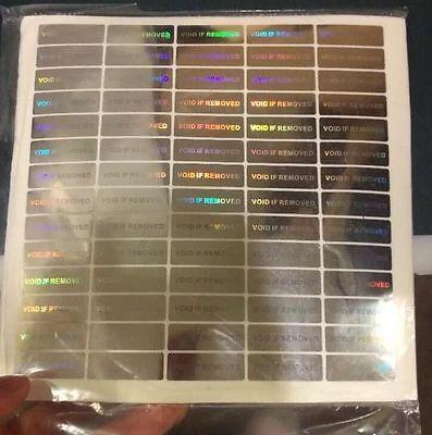 140 Hologram Void Security Labels Removed Tamper Evident Stickers Warranty Wvir