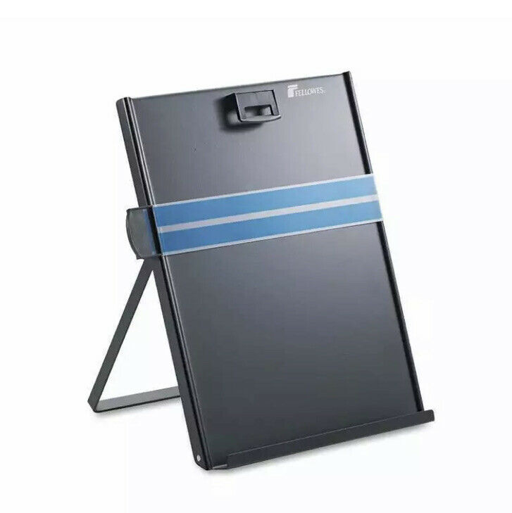 Fellowes Freestanding Desktop Copyholder, Stainless Steel, Black (FEL11053)