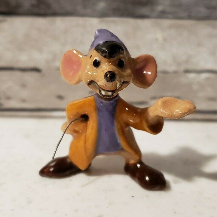 Disney Hagen Renaker 1950s CINDERELLA Mouse Jaq Jac Miniature Figurine RARE HTF