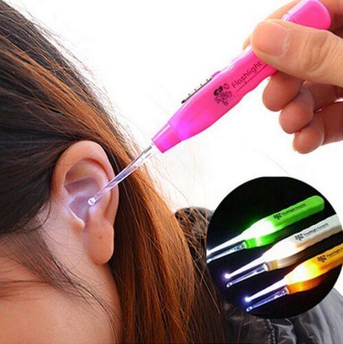 LED Light Ear-pick Clean Wax Remover Cleaner Picker Ear Pick Curette Tool Kids
