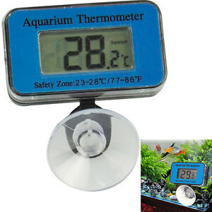 Digital lcd waterproof fish aquarium water tank for Fish tank temperature