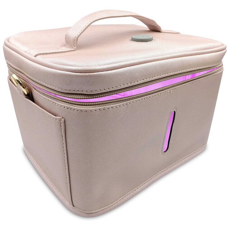 JJ Care UV-C LED Sterilizing Rechargeable Travel Bag, Pink