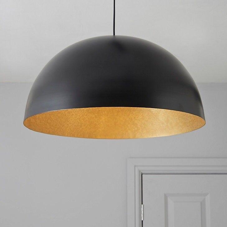 2 Black Pendant Lights B Q Kapsel Dome Ceiling Light