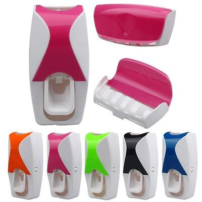 Wholesale Set Automatic Lazy Toothpaste Dispenser 5 Toothbrush Holder Wall Mount