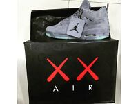 AIR JORDAN 4 RETRO Grey KAWS UK 8