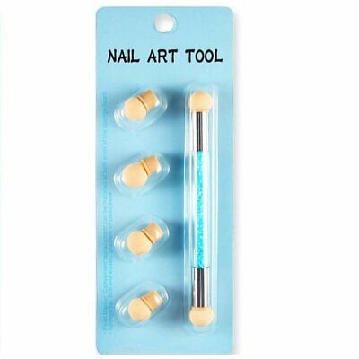 Dual head Nail Art Sponge Brush Pen Kit Rhinestone Handle Stamping Transfer Tool - Rhinestone Kit