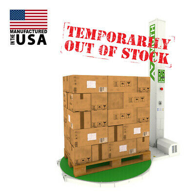 New 59 Dia 85 Tall Manual Pallet Wrapper Shrink Wrapping Machine Made In Us