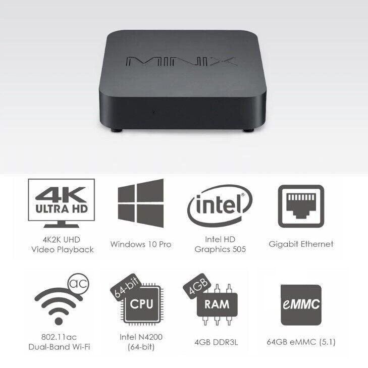 MINIX NEO N42C-4 Mini PC Windows 10 Pro Tiny Small Desktop C