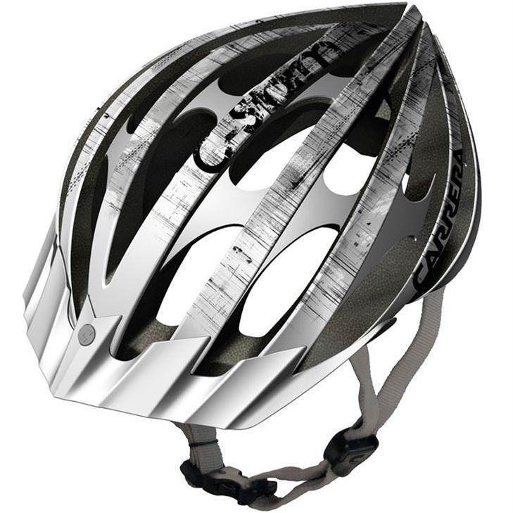 Carrera Hurricane Road MTB Helmet Blue /& White with Rear LED Light 58-62cm