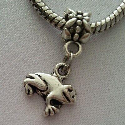 - Frog Road Animal Amphibian Silver Dangle Bead Fits European Style Charm Bracelet