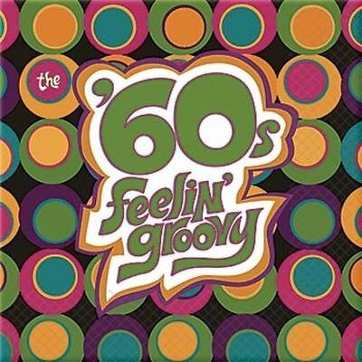 BEVERAGE NAPKINS 16 pcs. per pkg. Hippie Generation 60's Retro Party Decoration (60s Decorations)