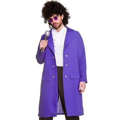 Adults Mens 80s Prince Purple Rain Musician Singer Fancy Dress Costume Outfit