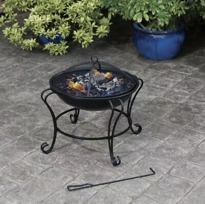 🔥NEW Al Fresco Living Boston Fire Pit Garden Round Patio Heater -Free P&P 🚚🚚✅