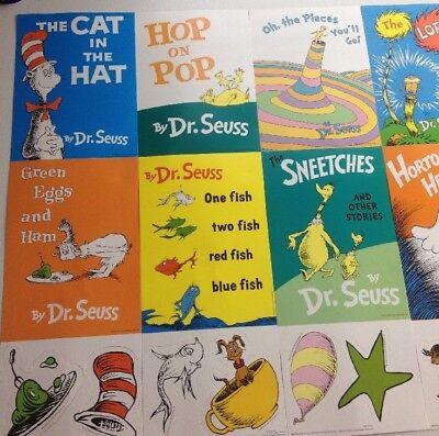 Dr.Seuss Mini Books Bulletin Board Set 33 Perforated Pieces 48470410 001 New - Dr Seuss Mini Books