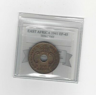 Used, **1941**East Africa, Ten Cents, Coin Mart  Graded**EF-45** for sale  Coquitlam