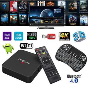 2018! MXQ PRO 3/32GB ANDROID 7 TV BOX BT FREE KEYBOARD NETFLIX 4K Hallam Casey Area Preview
