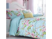 Catherine Lansfield Canterbury Floral Duvet Quilt Cover Bedding Set