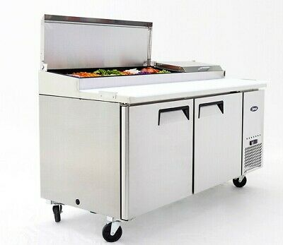New 2 Door 67 Refrigerated Pizza Prep Table Cooler Nsf Atosa Mpf8202gr 2229