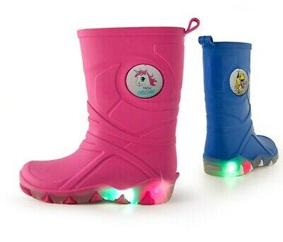 KINDER Blinkende LED Regenstiefel Jungen/Mädchen NEU/OVP Kostenlos Versand !!!