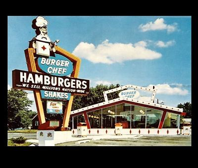 Burger Chef Diner PHOTO Vintage Restaurant Ad Sign Burger Joint 1960s
