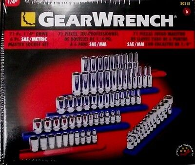 "Gearwrench 80318 71-pc 1/4"" Drive Master Socket Set"