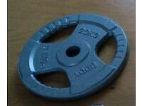 2x20kg Tri-Grip Olympic Cast Iron Weight Plates