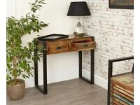 Reclaimed Rustic Boat Wood Industrial Hall Console Table
