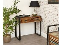 Java Rustic Industrial Console Table - Brand New