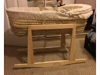 Moses basket with rocking stand was £110 now only £29 moving