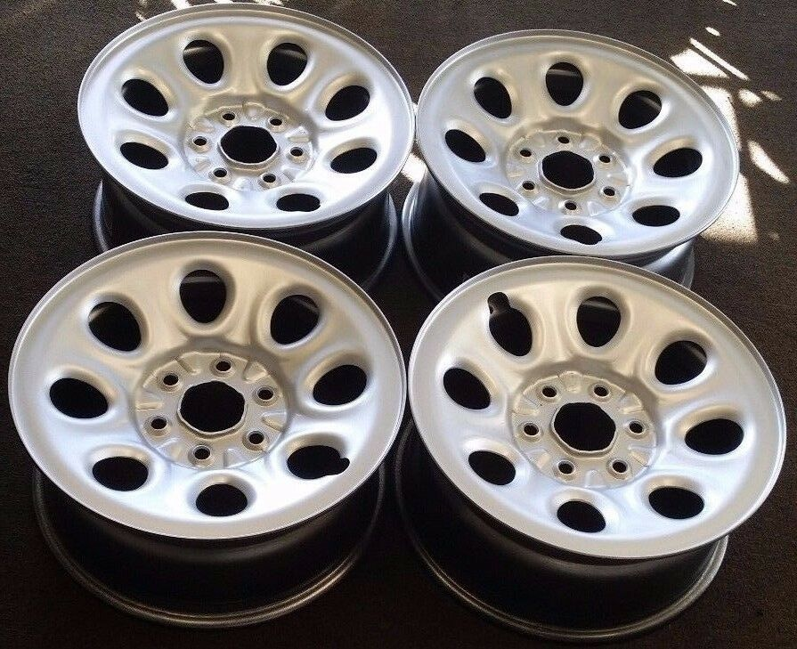"17"" 2007-2013 CHEVY AVALANCHE 1500 FACTORY OEM SILVER STEEL WHEELS RIMS"