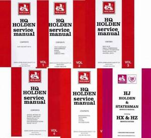 Holden HQ HJ  Statesman 1971 - 1980 Service Manual 6 Volume Set Blacktown Blacktown Area Preview