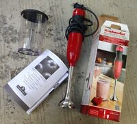Red Kitchenaid 2 speed Hand blender with box as new