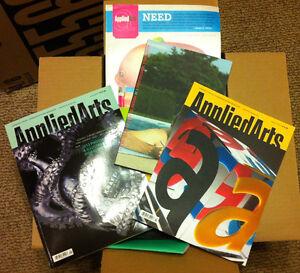 Box Full of Graphic Design Magazines & Books - Applied Arts