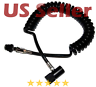 Paintball Remote Line Coiled Hose ASA Quick Release HPA CO2 ALL Paintball Tanks