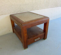 Shadowbox side table for living room or bedroom
