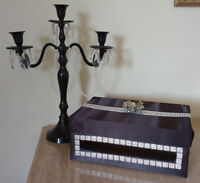 WEDDING CANDELABRA & MONEY GIFT BOX