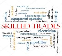 $ We are looking for trades people